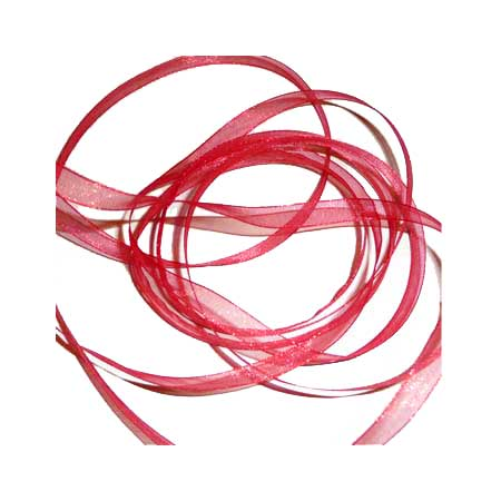6. Band Organza 7mm - Warm Red