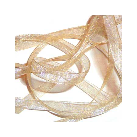 1. Band Organza 7mm - Creme - 70