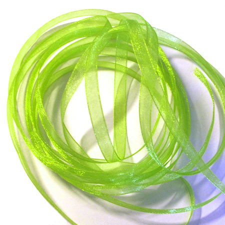 10. Band Organza 7mm - Spring Green
