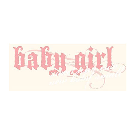 Rub Ons - Transfer Text - Baby Girl - BHT118