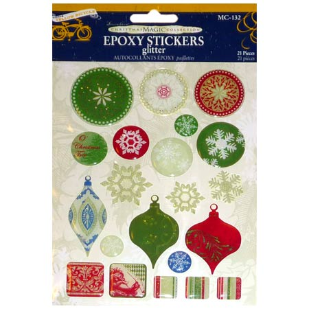 Stickers Epoxy Glitter - Christmas Decorations - MC-132