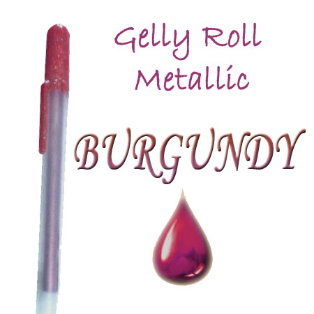Gelly Roll Penna - Metallic - Burgundy 522
