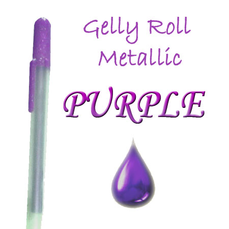 Gelly Roll Penna - Metallic - Purple 524