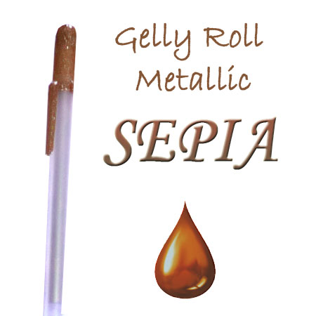 Gelly Roll Penna - Metallic - Sepia 517
