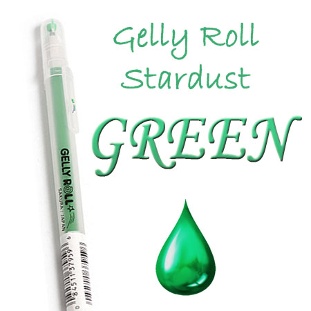 Gelly Roll Penna - Stardust - Green 729