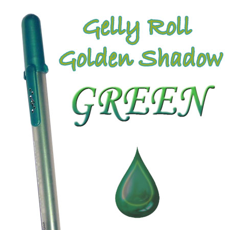 Gelly Roll Penna - Golden Shadow - Green 653