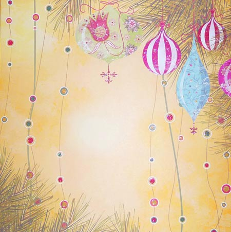 Glitterpapper - Best Creation - Yellow Christmas - GP015