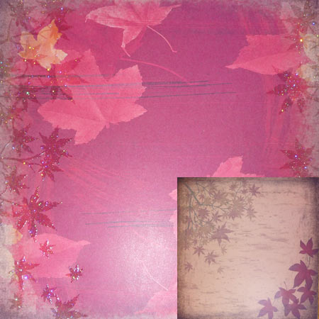 Glitterpapper - Best Creation - Harvest Leaf - GP078