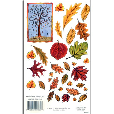 Rub Ons - Autumn Leaves - GRE348