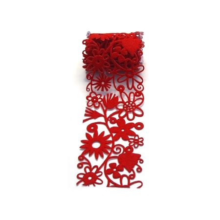 Fozz Felt - Fusion Flowers 95 cm - Red