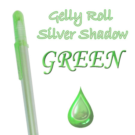 Gelly Roll Penna - Silver Shadow - Green 629
