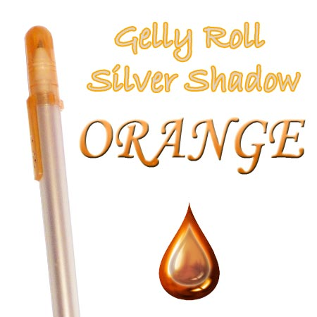 Gelly Roll Penna - Silver Shadow - Orange 605