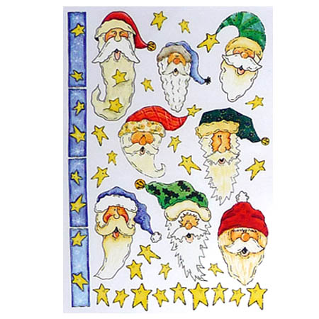 Rub Ons - Santa And Stars - STE-1204
