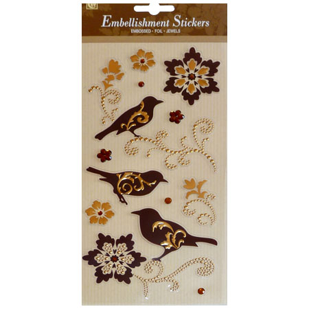 Stickers - Glorious Birds With Emboss - CLA1700